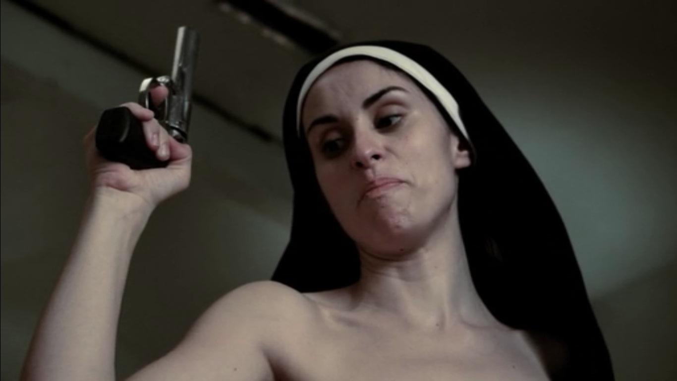 Naked nuns with big guns